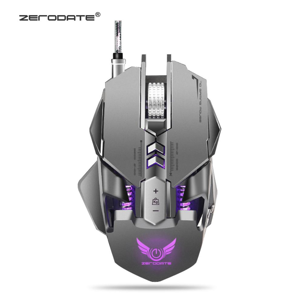 ZERODATE X300GY 7 Buttons USB Wired Gaming Mouse Mechanical Computer PC Mouse Mice 3200DPI  LED Backlight for LOL DOTA2 Computer-in Mice from Computer & Office