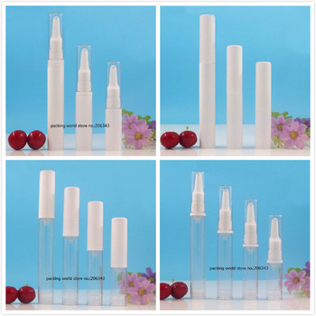 15ML clear/white airless bottle with long press pump clear/white lid for lotion/emulsion/eye serum/essence skin care packing