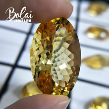 Bolaijewelry,100%Natural big citrine oval 20.65*31.86*15.92mm 54.55ct loose gemstone for jewelry