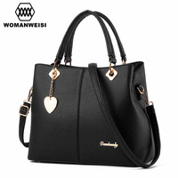 2016 Luxury Women Leather Handbags Famous Designer Brand Female Messenger Bags Crossbody Tote Bags Kabelky Bolsos