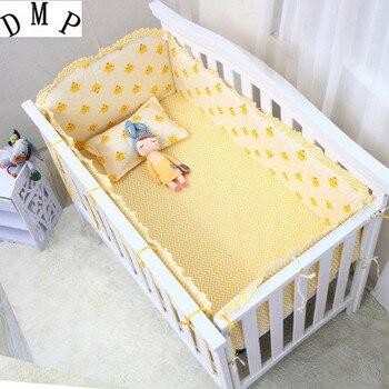 6PCS Cartoon Ropa de Cama Baby Bedding room decoration Baby Cots Baby Set Baby Bedding Set (bumpers+sheet+pillow cover)