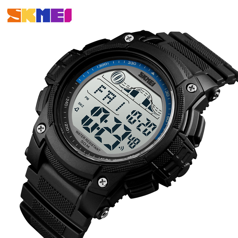 <font><b>SKMEI</b></font> Casual Sport Watch Men Luxury Brand Military Outdoor Chronograph Double Time Alarm Clock Wristwatches Relogio Masculino image