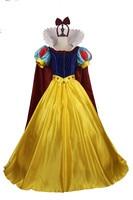 Adult Custom Made Snow White Halloween Princess Cosplay Headband Cloak Dress
