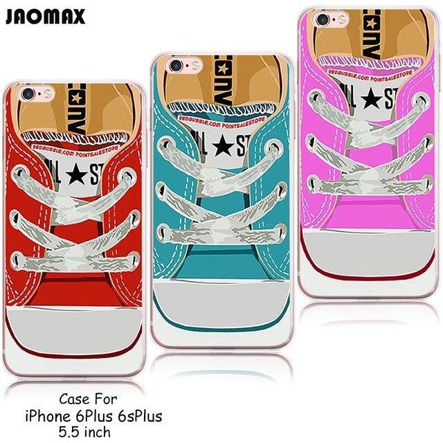 0f024604843 Nueva novedad caliente lona sneakers Zapatos diseño funda de silicona para  el iPhone 6 más 6