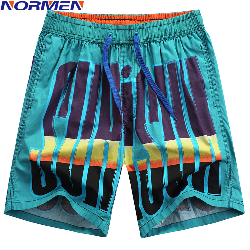 NORMEN Men's Fashion Print   Board     Shorts   Casual   Short   Pants sungas de praia homens 2018 New swimwear men