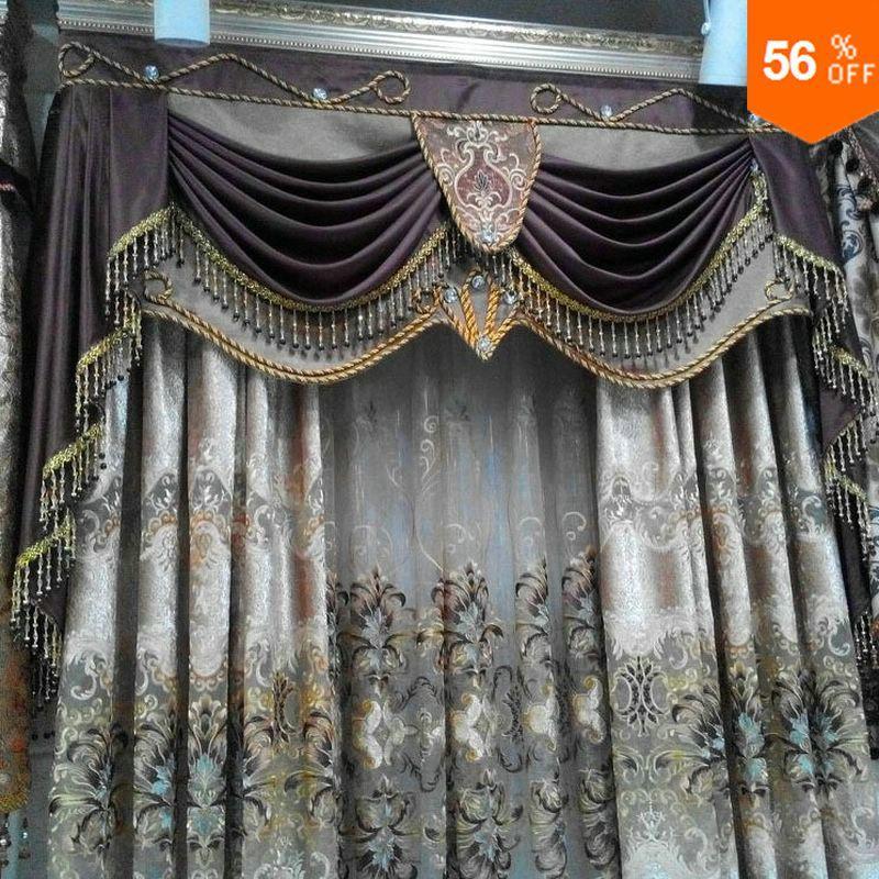 skleněné perle závěsy tylové výšivky krajka záclona luxusní hotové záclonové tyle cortinas cortinas para sala dveře korálek závěsy