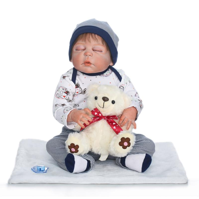 2017 NPK 23 Full Silicone Reborn Boy Doll Bebe Reborn Vinyl Body Children Play House Toys Gift Boneca Toy for Children Juguetes disto d410 с поверкой