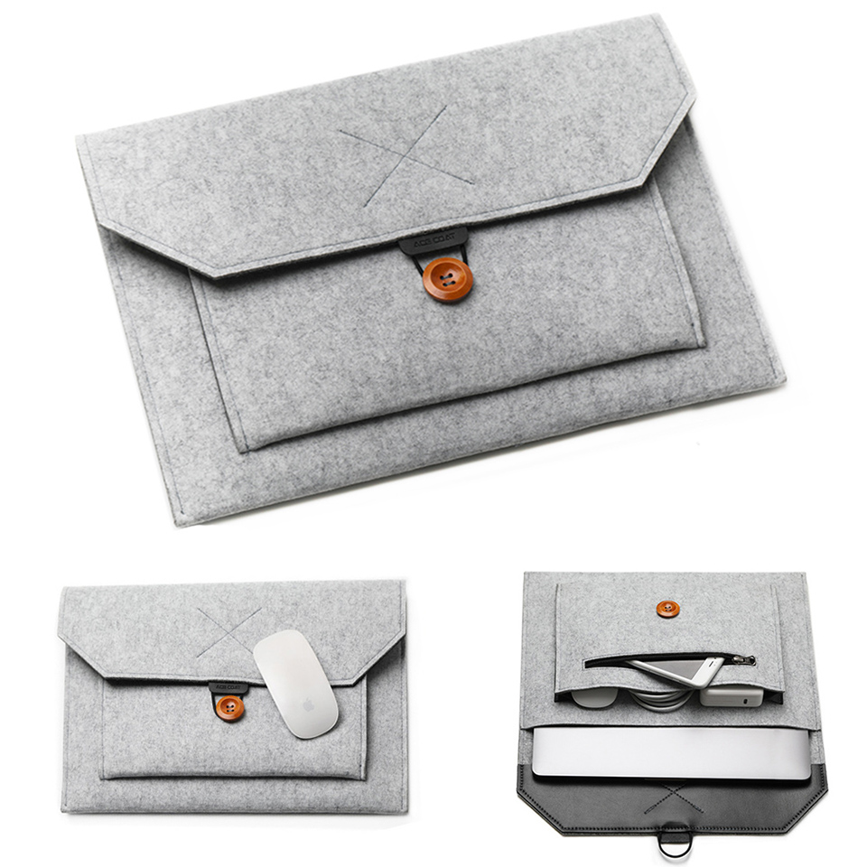 "11/12/13/14/15""Laptop Sleeve Felt Ultralight Notebook Tablet Pad Case Multi-pocket Pouch Bag Briefcases for Apple Macbook/ Asus Price $4.90"