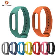 Mijobs Mi Band 2 Strap bracelet Silicone Bracelet Wristband miband Smart Accessories wrist for Xiaomi mi band2