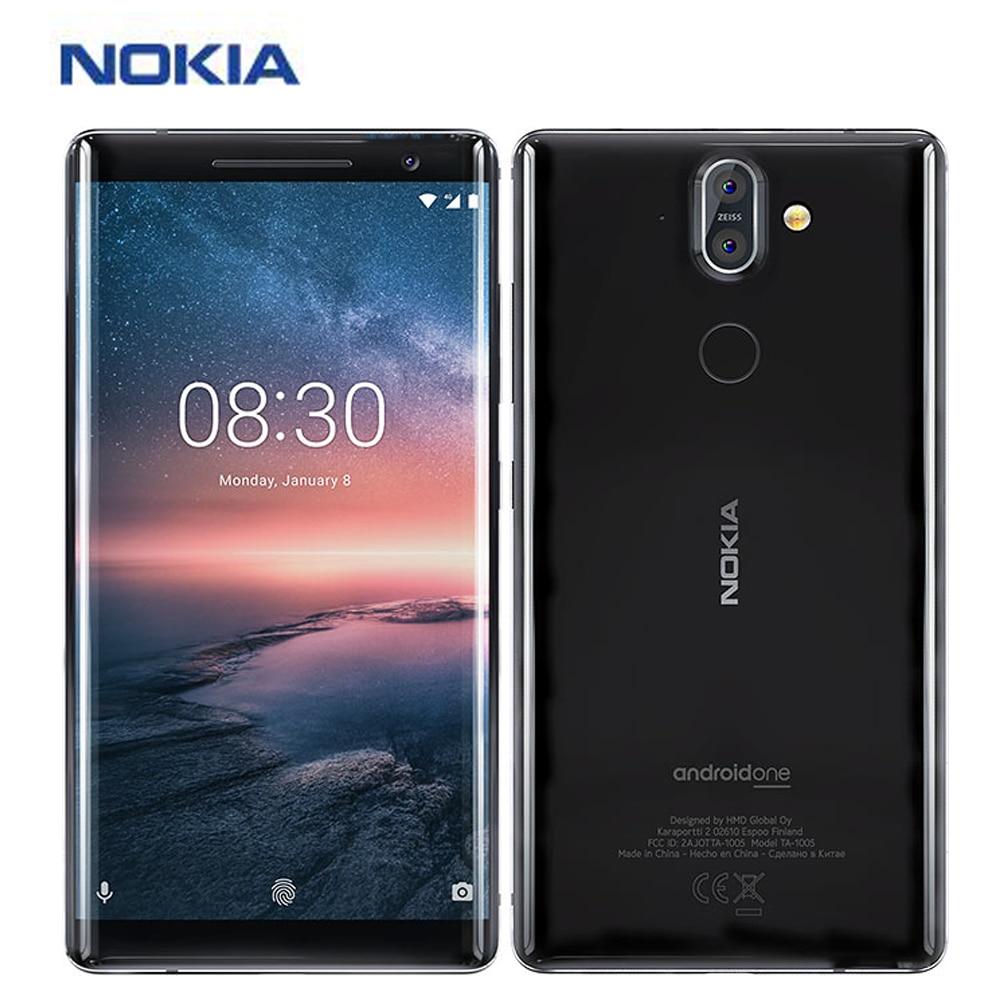 "New Original Nokia 8 Sirocco Mobile Phone 4G TA-1005 5.5"" Snapdragon 835 6GB 128GB Fingerprint NFC Dual Rear Camera Smartphone"
