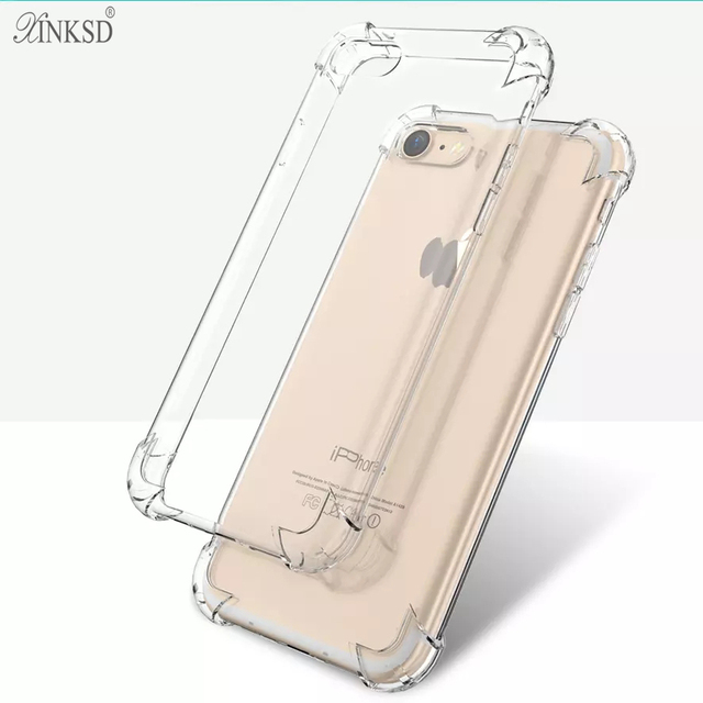 66612ab76 Shockproof For iPhone X 7 6s Case Cover Plus Best Full Phone Protective  Silicone Clear Accessories for apple iphone 8 6 5s Cases