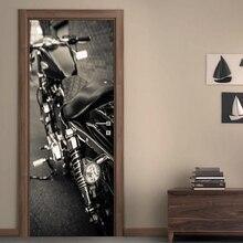 Diy художественная наклейка, наклейка для дома, двери, мотоцикла, 3D, самоклеящаяся, украшение, ремонт, ПВХ, обои, принт, картина для гостиной