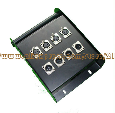 wholesale 8 signal pathway stage junction box Stage snake cable box Multichannel audio cable junction box