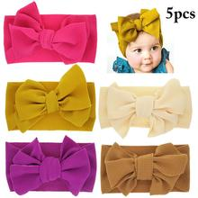 5PCS Baby Headband Childrens Stretch Creative Lovely Bowknot Elastic Head Warp Headwear Accessories