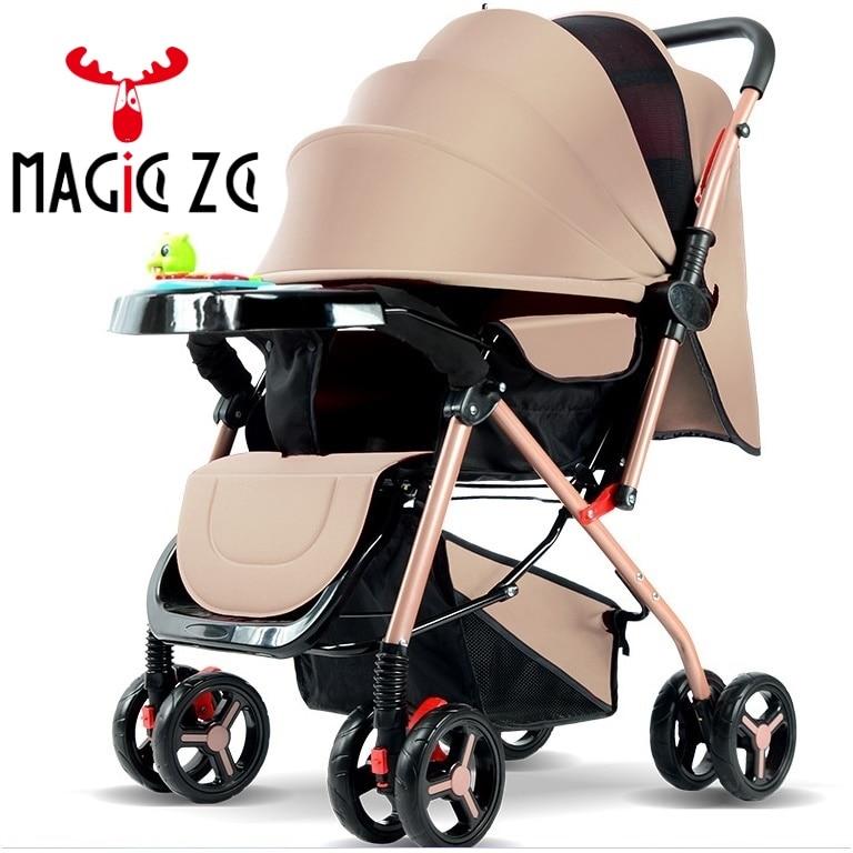 L'UE et RU AUCUN IMPÔT Bébé poussette léger pliage parapluie poussette double sens Pousser 4 saisons peut s'asseoir peut mensonge poussette bébé Buggy