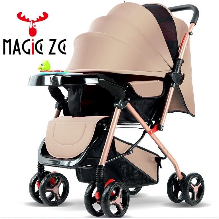 NENHUM IMPOSTO DA UE & RU carrinho de Bebê leve guarda-chuva dobrável carrinho de criança Two-way Empurrando 4 estações pode sentar pode mentira carrinho de criança Carrinho de bebê