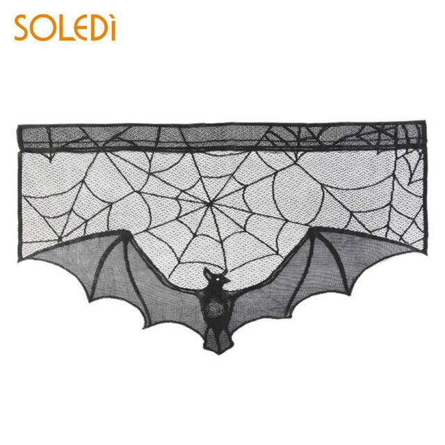 Fireplace Scarf Decor Horrible Polyester Lace Bat Party Prop Ornament