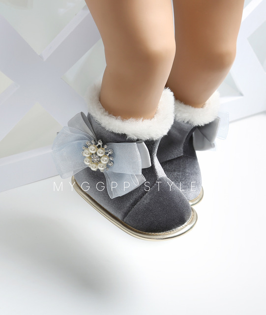 40bcd76c0 Good Quality Winter Girls Soft Plush Booties Infant Anti Slip Snow Boots  Shoes Warm Cute Snow Baby Girl Boots for 0-24M Infant