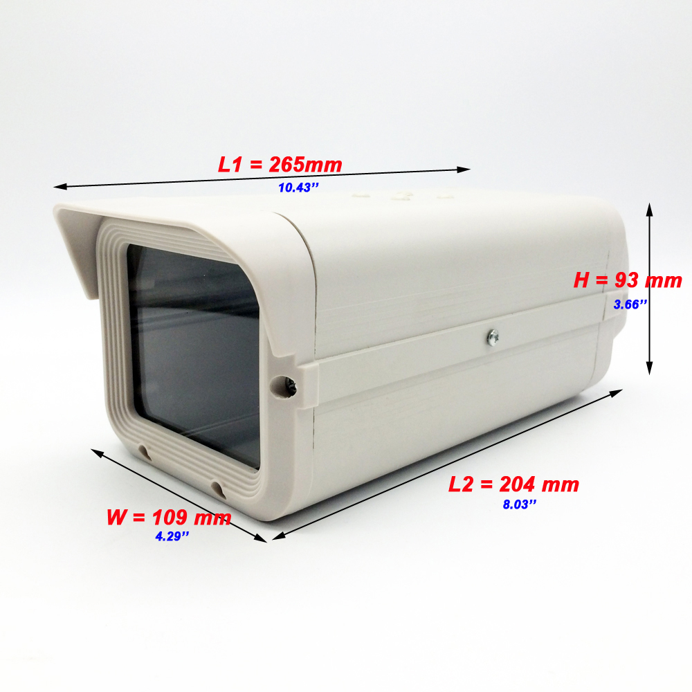 CCTV Security Surveillance Indoor Outdoor Camera Housing 275*109*93MM Gray Aluminum ABS Camera Case protect lens & Antidust
