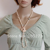 Clearance Sale Genuine Cultured Freshwater Pearl Necklace 40 Inchs Long Necklace Fashion Jewelry Hot Sale Free