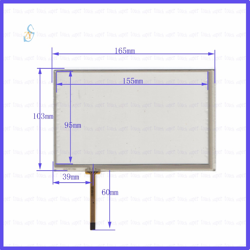 ZhiYuSun HLD TP 1760 7inch 4 wire resistive touch panel for font b Car b font