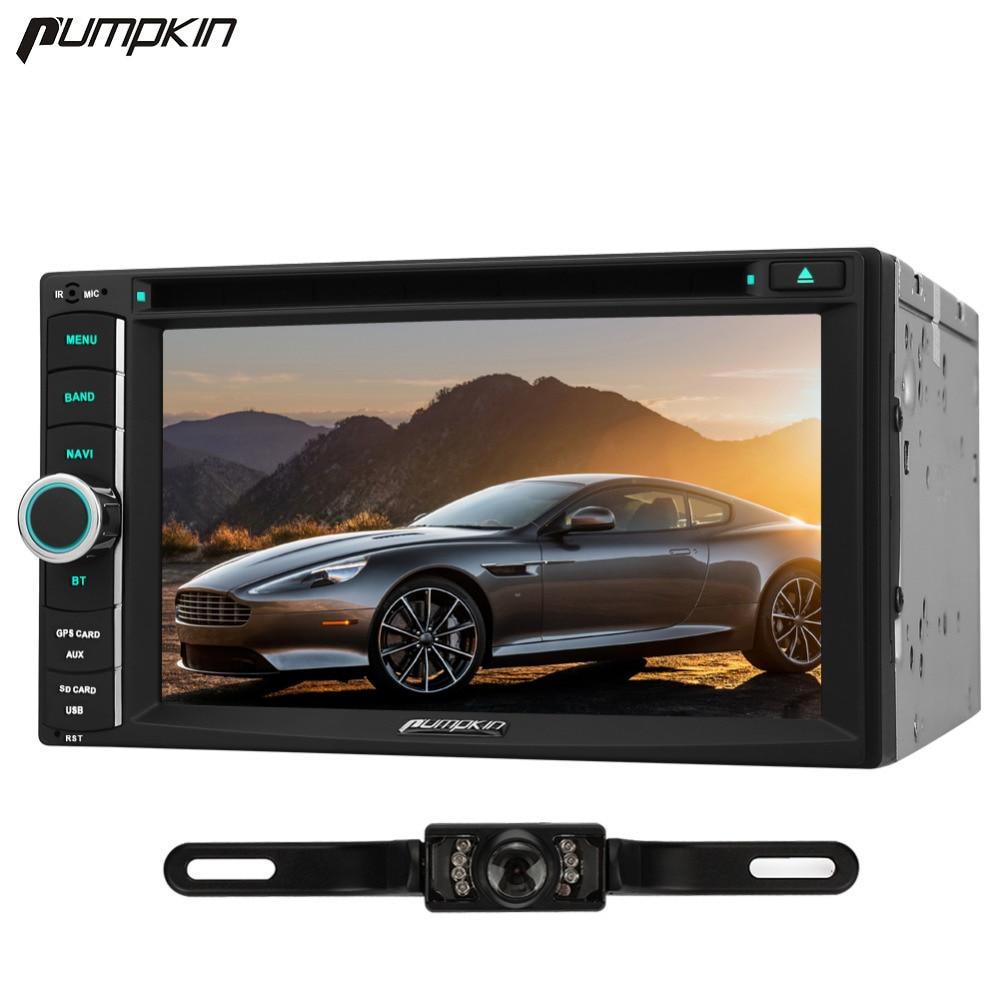 Pumpkin 2 Din Android 6.0 Car DVD Player 6.2 Inch GPS Navigation Car Stereo Bluetooth FM Rds Maps Radio Wifi 3G USB Head Unit