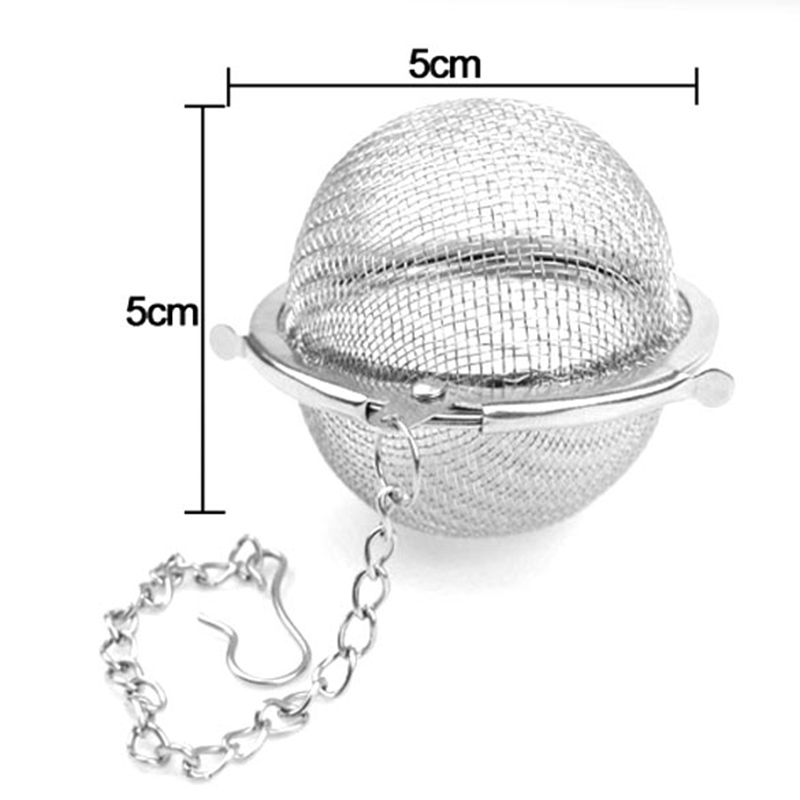 Stainless Steel Tea Strainer Locking Spice Tea Pot Infuser Mesh Ball Filter LAD-sale