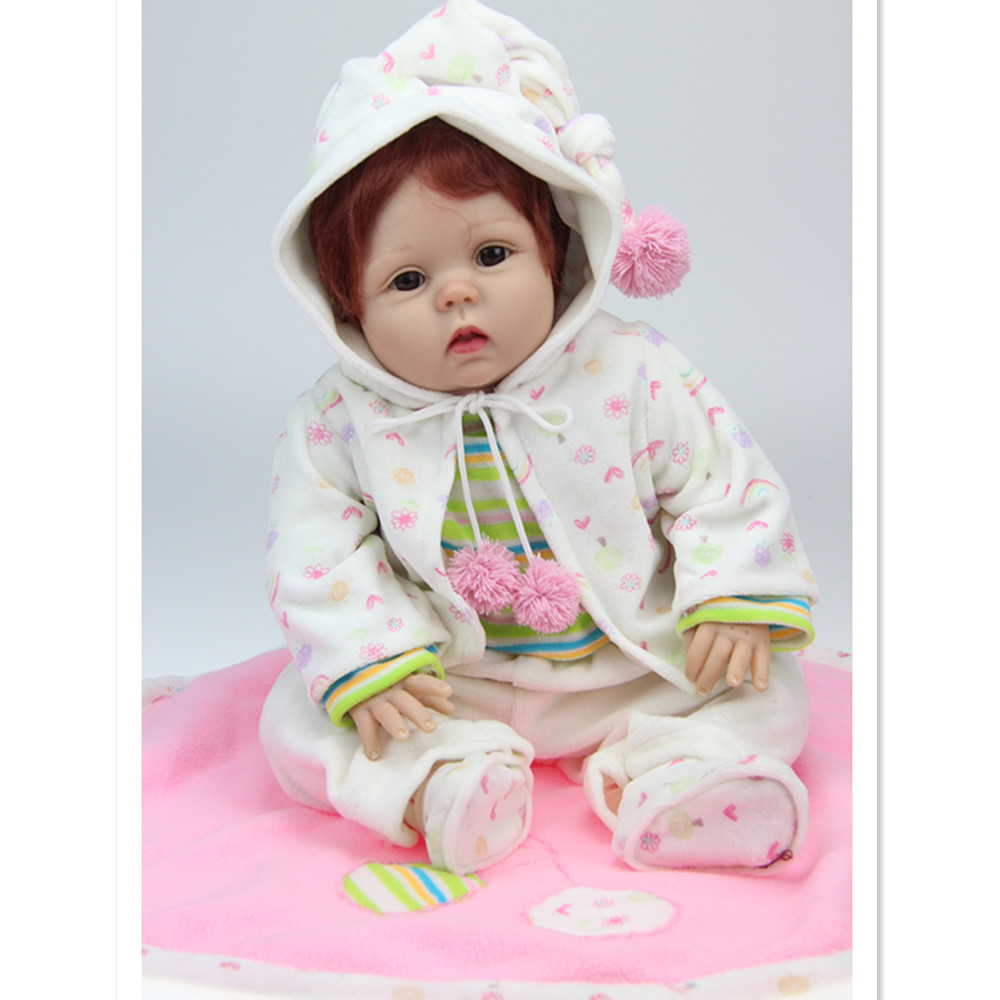 20 Cute Real Reborn Babies Silicone Reborn Dolls with Clothes,50cm Lifelike Baby Reborn Doll Toys for Girls Children's Present hot newborn doll lifelike baby reborn doll with clothes fashion 37 cm cute silicone reborn dolls toys for children