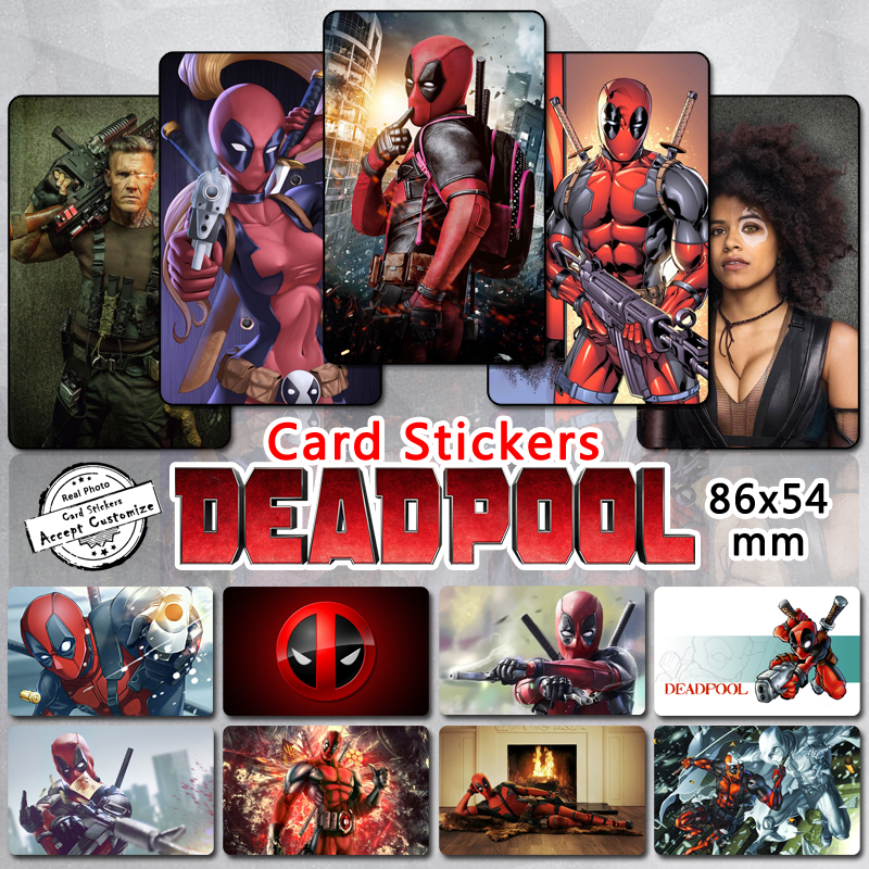 35pcs Deadpool Series Card Stickers Classic Comic Movie Anti Hero Wade Wilson Ryan Reynolds Cable Domino