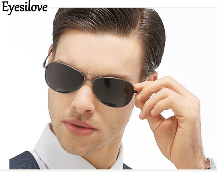 Apparel Accessories Men's Sunglasses Intellective Eyesilove Brand Men Polarized Sunglasses Fashion Sun Glasses Metal Sunglass Gafas For Driving Uv400 Grey Color Great Quality Elegant Appearance