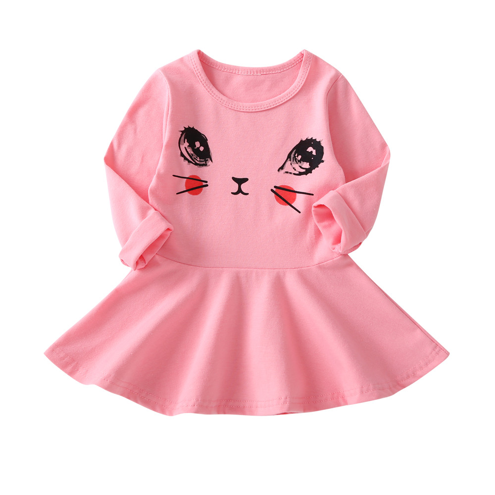 HTB1 ZSVKeSSBuNjy0Flq6zBpVXa1 1-7 Years Kids Girl Dress Toddler Baby Long Sleeve Dresses Summer Children Clothing Girls Cotton Princess Dress Kid Tops Outfits