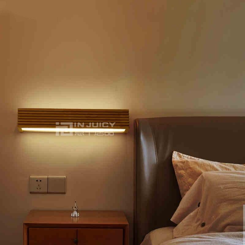 Japanische Moderne Holz Acryl LED Leselampe Schlafzimmer Wohnzimmer ...