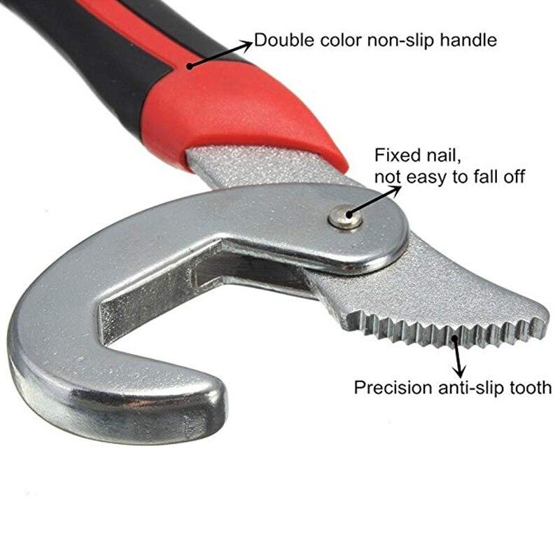 QUK Wrench Set Universal keys 2pcs 9-32mm Multi-Function Adjustable Portable Torque Ratchet Oil Filter Spanner Hand Tools3
