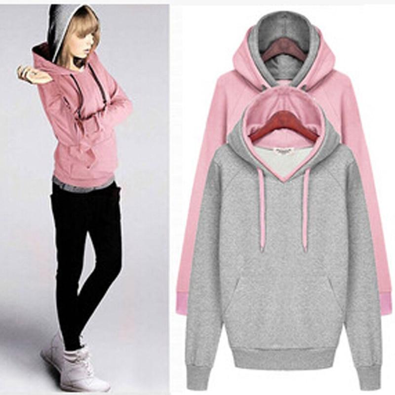women hoodies sweatshirts solid Sweatshirt Autumn Winter Outerwear women Coats Moleton Feminino Women Pullovers DL1174