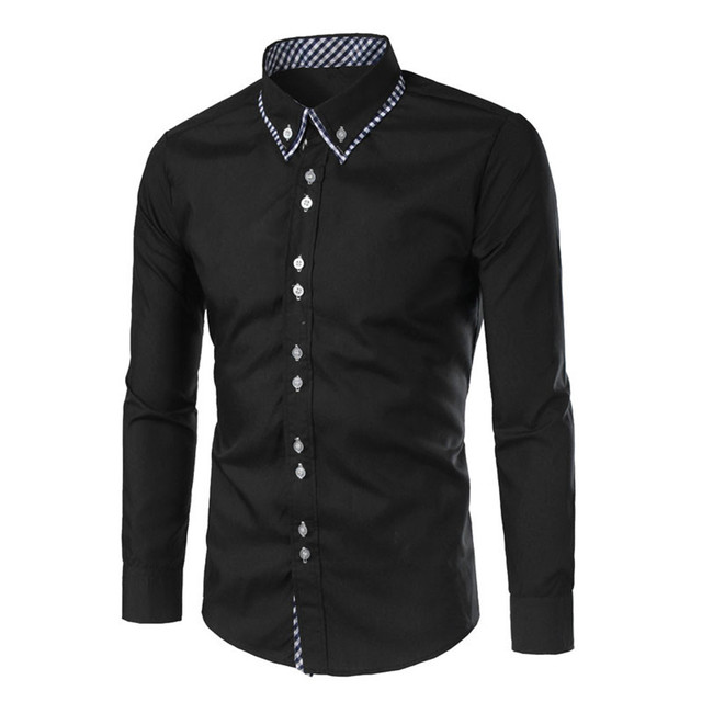 966cbc0fb13 Elegant Man Black Shirt Dinner Party Clothies Handsome Boy Slim Shirts  Korean Style 2019 New Spring Summer Tops Club Blusa 2XL