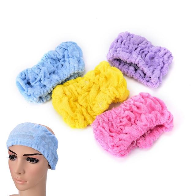 1 adet Kadın Saç Stili Havlusu Kız Havlu Yüz Yıkama Duş Spa Makyaj Saç Kafa Bandı Duş Yıkama Aksesuarları