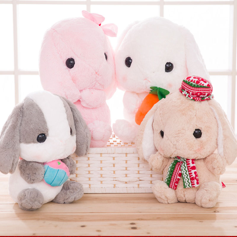 cute and bigger than you think rabbit plush bunny stuffed soft toy kids toy carrot rabbit doll 32cm 45cm best gift for child rabbit plush keychain cute simulation rabbit animal fur doll plush toy kids birthday gift doll keychain bag decorations stuffed