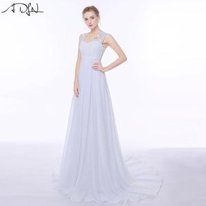 Image 3 - ADLN Elegant Chiffon Beach Wedding Dresses Simple Empire Sweep Train Open Back Boho Plus Size Bridal Gown for Pregnant Woman