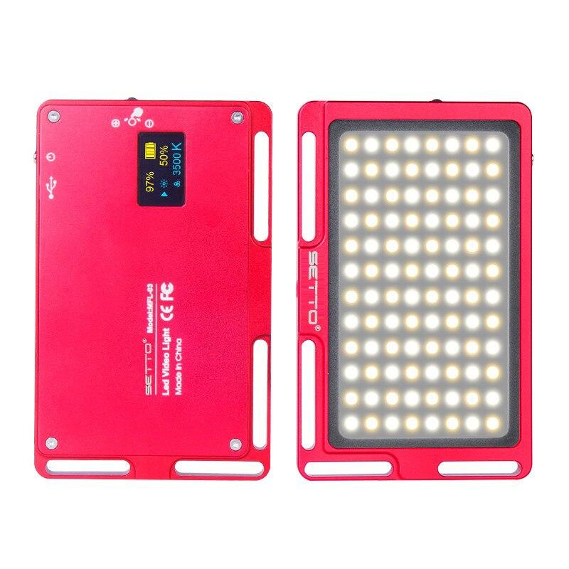 Telefone 96 De Alumínio Regulável Luz de Vídeo Fotografia Luz de Preenchimento de LED CRI Natural Super Luz 3300 K-5600 K OLED exibir como Iwata