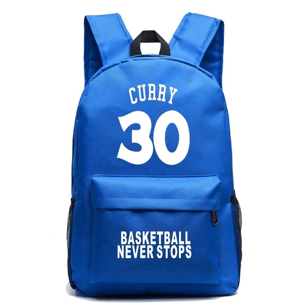 Stephen Curry Canvas Backpack Basket Ball Backpacks Boy Girl School Bags For Teenagers Casual RuckSack Mochila Escolar фанатская атрибутика nike curry nba