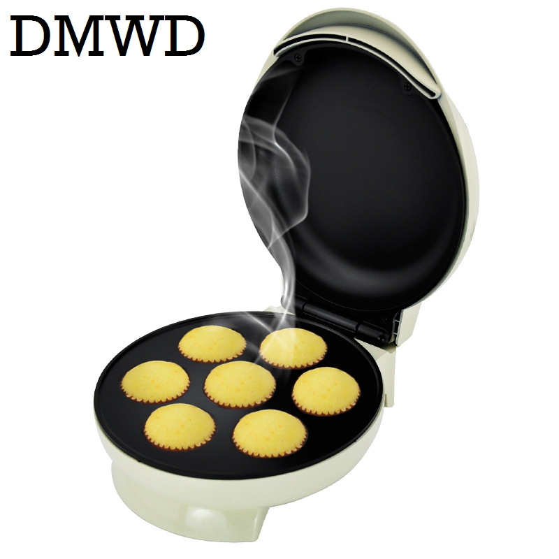 DMWD Electric Egg tarts machine Automatic Thermostatic Mini baked cake maker Toaster eggs bread eggettes puff Oven for breakfast dmwd mini household bread maker electrical toaster cake cooker 2 slices pieces automatic breakfast toasting baking machine eu us