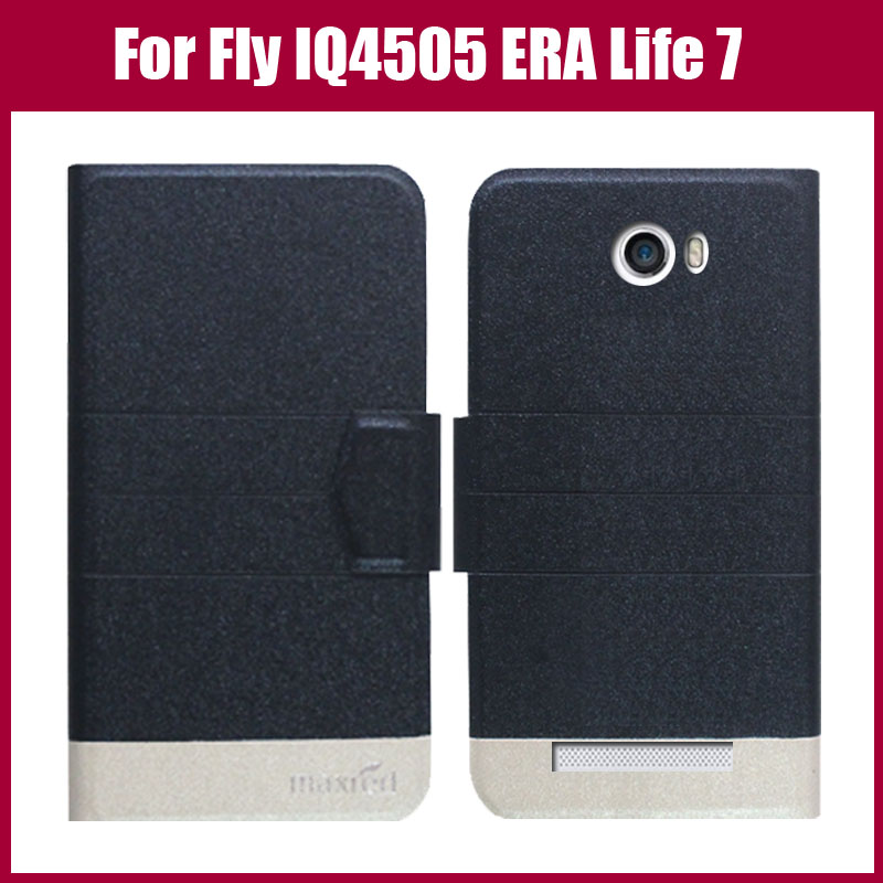 Hot! Fly IQ4505 Case,New Arrival 5 Colors High Quality Leather Exclusive Case For Fly IQ4505 ERA Life 7 Quad Cover