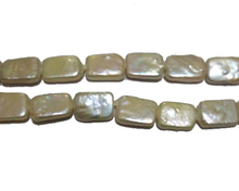 16 inches 12x16mm Rectangle Shaped Natural Baroque Pearl Loose Strand for Necklace