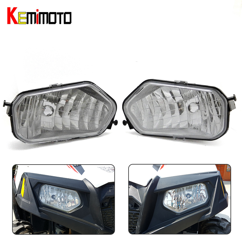 KEMiMOTO UTV Front Left and Right Light Headlight Lamp for Polaris Sportsman 800 500 850 Ranger 700 RZR 570 800 500 XP1000 voltage regulator rectifier for polaris rzr xp 900 le efi 4013904 atv utv motorcycle styling