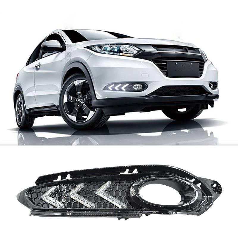 Newest Car Styling DRL Daytime Running Lights Rolling Turning Signal For Honda HRV HR-V 2015 2016 Super Bright High quality