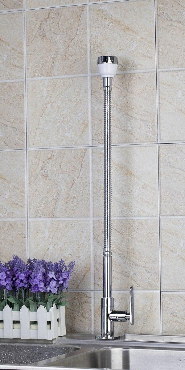 YANKSMART Chrome Single Colde DL8551-4/5 All Around Rotate Swivel  Kitchen Faucets With Plumbing Hose Tap Faucet yanksmart bath
