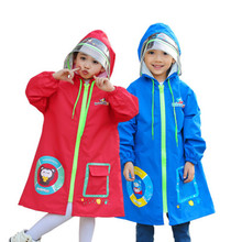 80-150cm Waterproof Rain Coat Poncho Jackets Outdoors Rainsuit raincoat For Children kids Chubasqueros school bag