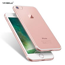 Soft Silicone Clear Transparent TPU Back Cover For iPhone 7