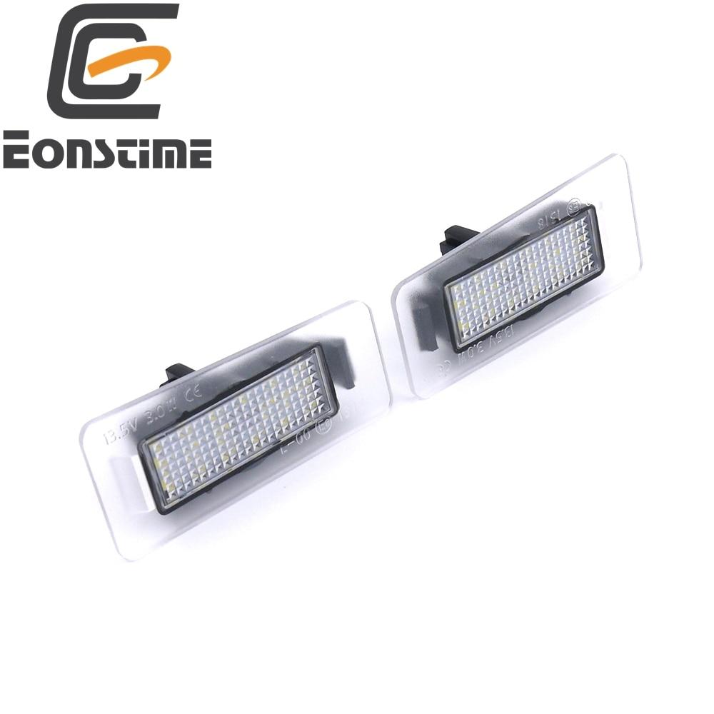 Eonstime 2pcs 6500k LED svjetla registarskih tablica za Hyundai Elantra 2011 ~ 2013 I30 2012 ~ 2014 Auto zamjenski zadnji automobil