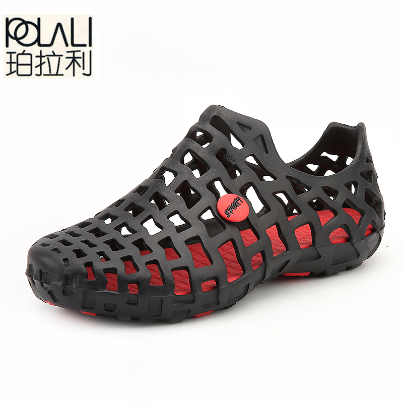 Men Sandals Slippers Water-Shoes Breathable Casual Fashion Summer POLALI New Hollow